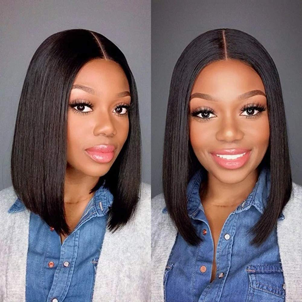 14 Inch Straight famous Bob Lace Front 13x4 Wigs Bo Hair Human Very popular