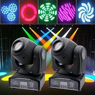 Happybuy 30W LED Moving Head Light RGBW Beam Spot DMX512 Stage Light For Dj Disco Club Party (2pcs30W Moving Head Light)