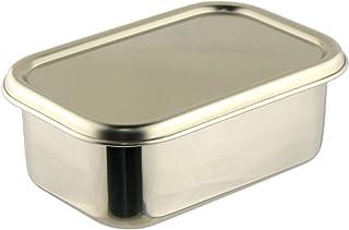 ナガオ 燕三条 深型 組バット セット 17.9cm 蓋付 角型保存容器 18-8ステンレス 1号 日本製