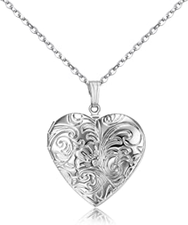 child's heart locket necklace