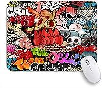 VAMIX マウスパッド 個性的 おしゃれ 柔軟 かわいい ゴム製裏面 ゲーミングマウスパッド PC ノートパソコン オフィス用 デスクマット 滑り止め 耐久性が良い おもしろいパターン (グラフィティ80s 90s)