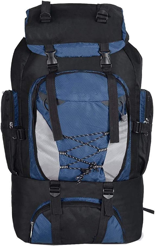 RMXMY Rucksäcke Rucksäcke Rucksäcke 80L Wanderrucksack Outdoor Sports Bag Wasserdichte Reisetaschen Männer Klettern Angeln Rucksack (Farbe   Dunkelblau) B07QPHXYXG  Moderne und stilvolle Mode 70d556