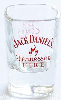 Jack Daniel Tennessee Fire Schnapsglas quadratischer Boden, robustes Schnapsglas