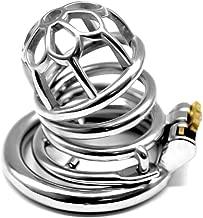 GKWJD-Chástí-ty Belt Cock Lock Male Metal Chasteness Waterproof Stainless Steel Device Hypoallergenic for Men Beginners Shirt b45 (Size : 40mm)