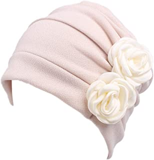 Ever Fairy 3 Colors Chemo Cancer Head Scarf Hat Cap Ethnic Cloth Print Turban Headwear Women Stretch Flower Muslim Headscarf
