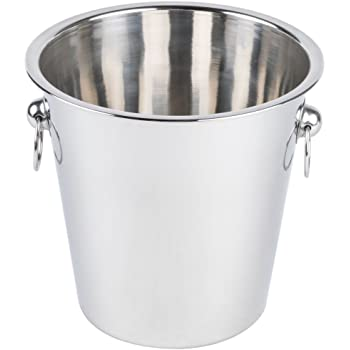 King International Stainless Steel Champagne Bucket, Wine, Ice Bucket, 3850 ml, Silver