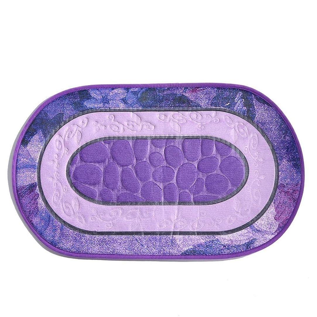 カスケード接辞独裁ドアマット3D滑り止めフロアマット吸収敷物カーペットバスパッドマットバスルームの寝室の装飾(紫の)