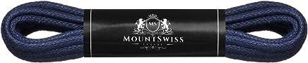 Mount Swiss© Luxury-Schnürsenkel gewachst, Rundsenkel für Business-, Anzug- und Lederschuhe, ø 2-3 mm, Längen 45-120 cm
