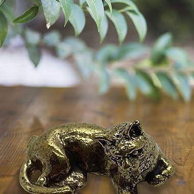 Vie Naturals Miniature Brass Figurines, Cat 2