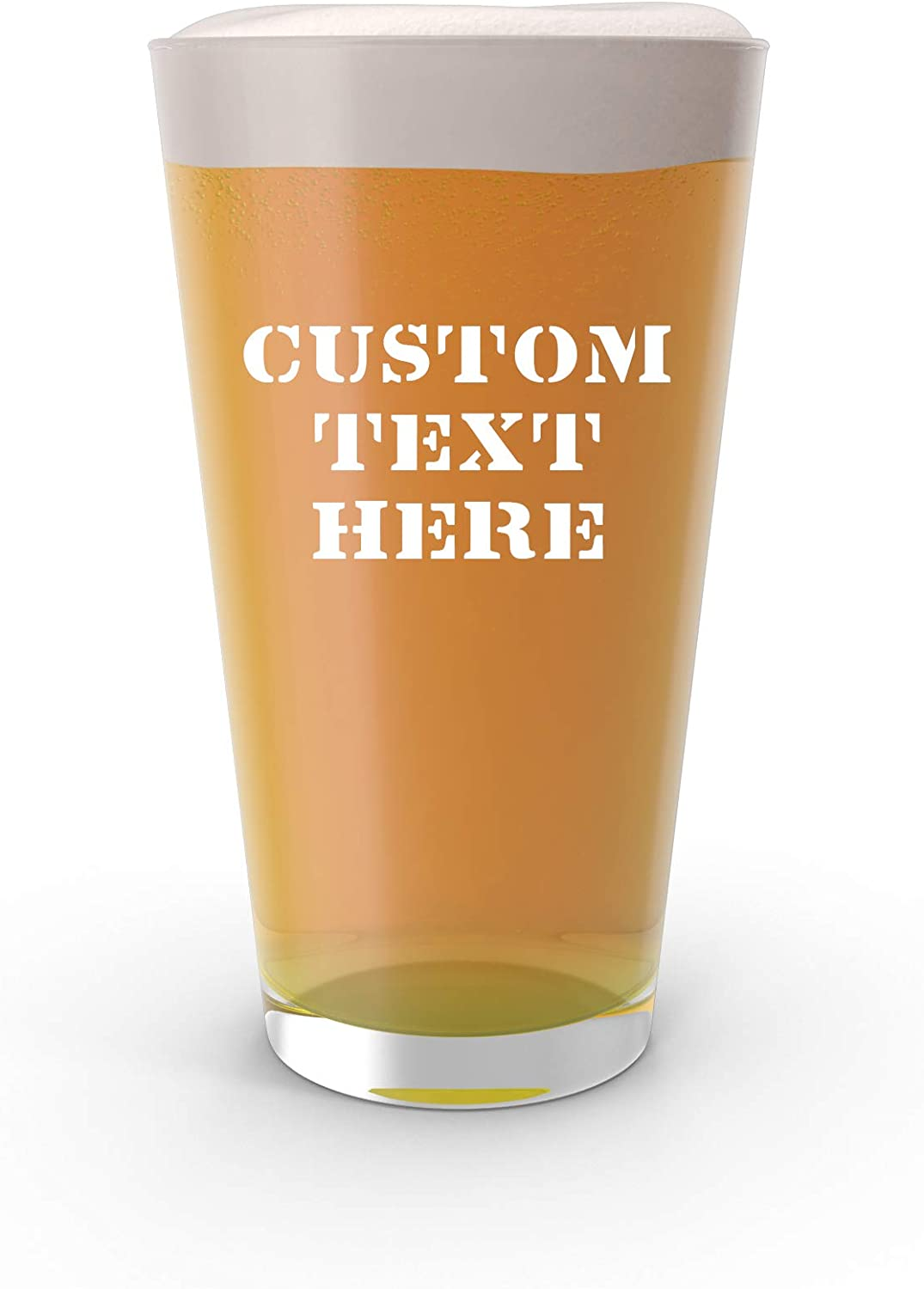 Ranking TOP15 Custom Engraved Pint Glass Beer with Outlet SALE Mug Text - Personali