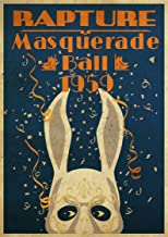 Bioshock Rapture Masquerade Ball 1959 Rabbit Poster Gifts for Fan Poster Home Art Wall Posters [No Framed]