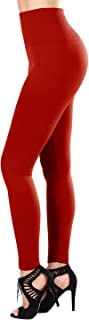 SATINA Fleece Lined Leggings High Waist Compression Slimming Warm Opaque Tights