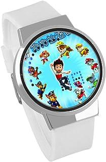 Anime paw patrol snow slide, orologio a LED Orologio al quarzo analogico impermeabile Orologio con cinturino in pelle in a...