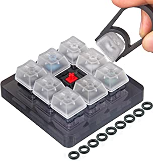 Akwox 9-Key Cherry MX Switch Tester, Keycap puller, keyboard Keycap, O-Ring Sampler Tester Kit