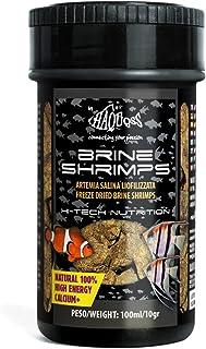Haquoss Brine Gamba Alimento Natural liofilizzato de Artemia Salina para Peces Tropicales de Agua Dulce y Marina, 100ml/1...