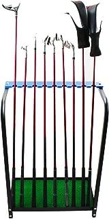 Kofull Golf Club Display Rack Durable Metal Storage 9 Clubs Golf Clubs Shelf Organizers Equipment