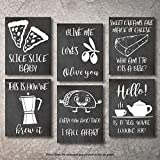 Wall Decor Kitchen Pictures UNFRAMED Modern Farmhouse Eat Signs Decorations Shabby Chic Art Sign Prints for Home or Office Kitchen Coffee Deco Wall Shelves or hanging shelf Vintage Decore Bar (Chalk, 8'x10')