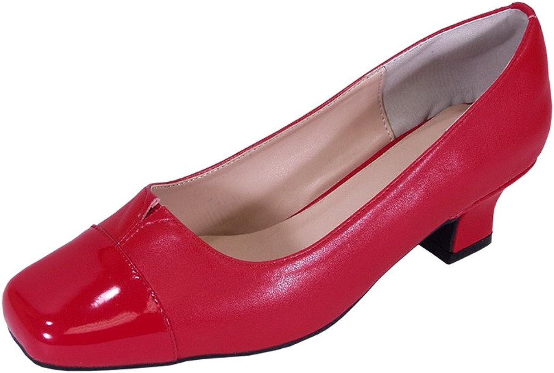 Peerage Leela Women Wide Width Comfort Low Heel Leather Pump shoes for Wedding, Prom, Evening, Work