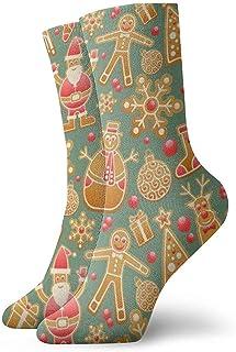 Dydan Tne, Calcetines navideños con patrón de Pan de Jengibre Calcetines Divertidos Calcetines Locos Calcetines Casuales para niñas Niños