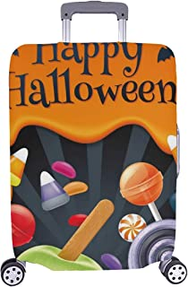 Halloween Sweets Colorful Party Lollipop Spandex Trolley Case Travel Luggage Protector Suitcase Cover 28.5 X 20.5 Inch