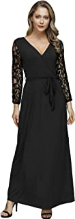 Best black lace gown with sleeves Reviews