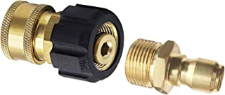 PLG High Pressure Washer Hose Adapter, M22-15 Swivel Fitting+3/8
