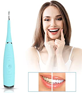 Dental Calculus Remover, Tovendor Household Tartar Scraper Electric Plaque Remover Tooth Stains Cleaning Tools, 5 Modes, USB Rechargeable (Blue)