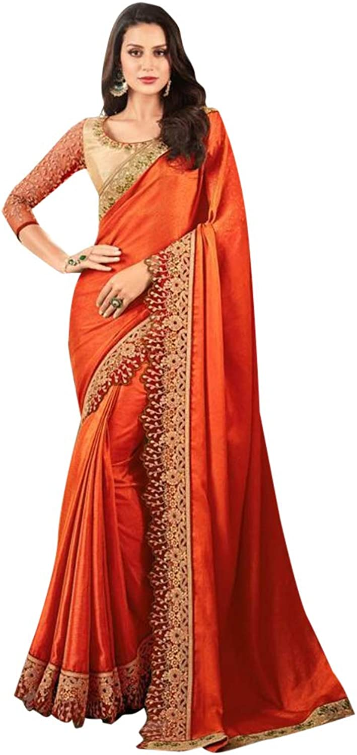 Designer Stylish Soft Net Saree for Women Indian Party wear Sari with Blouse 7571