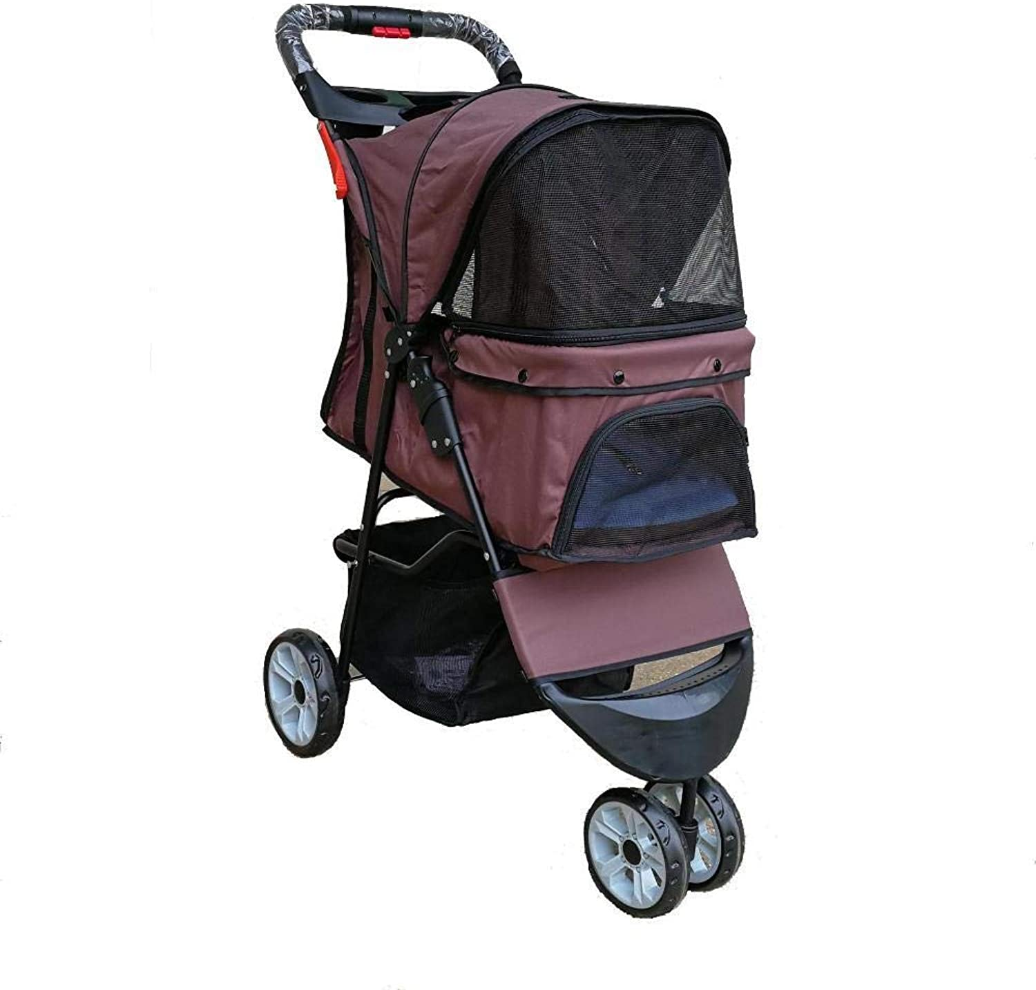 Dixinla Pet Stroller Cat Dog Stroller Cat Small and medium sized pet car Portable pet cart