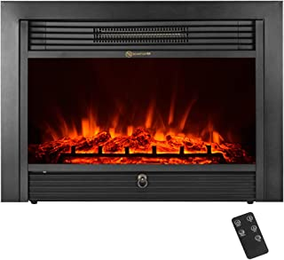 IKAYAA Electric Fireplace Insert, 28.7