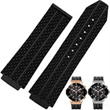 Compatible 26mm x 19mm Black Strap to Fit Hublot Big Bang Tier Men's Watch Band Replacement Strap