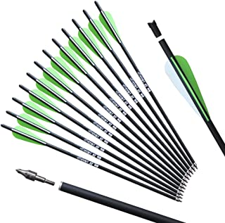 REEGOX 20 inch Crossbow Bolts Bio with 4-Inch Vanes(Pack of 12)…
