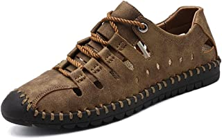 [CHENJUAN] 靴メンズファッションサンダルカジュアルアンチコリジョントウレースアップアウトドアウォーターシューズ