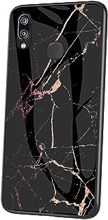 Jinghaush Kompatibel med Huawei P20 Lite fodral, kompatibel med Huawei P20 Lite telefonfodral, baksida i härdat glas + mju...