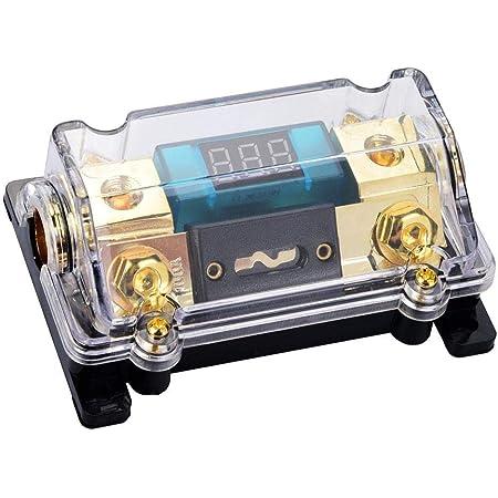 24v 100a audio fuse holder car audio digital breaker fuse holder  distribution block with lcd display : amazon.de: electronics & photo  amazon