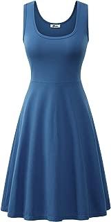 Herou Sleeveless Summer Flared Casual Dresses for Women