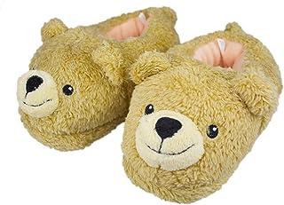 Image of Plush Soft Teddy Bear Slippers for Girls