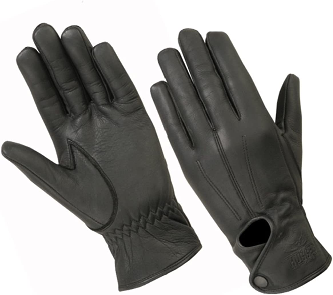 Hugger Women's Water-Resistant Full Finger Touchscreen Unlined Leather Gloves for Casual Wear, Driving, Riding