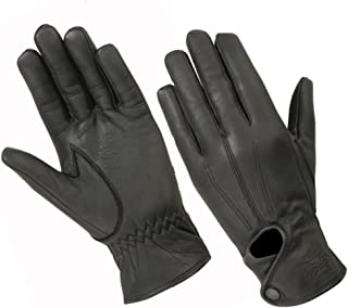 Women's Water-Resistant Full Finger Touchscreen Unlined Leather Gloves for Casual Wear, Driving, Riding