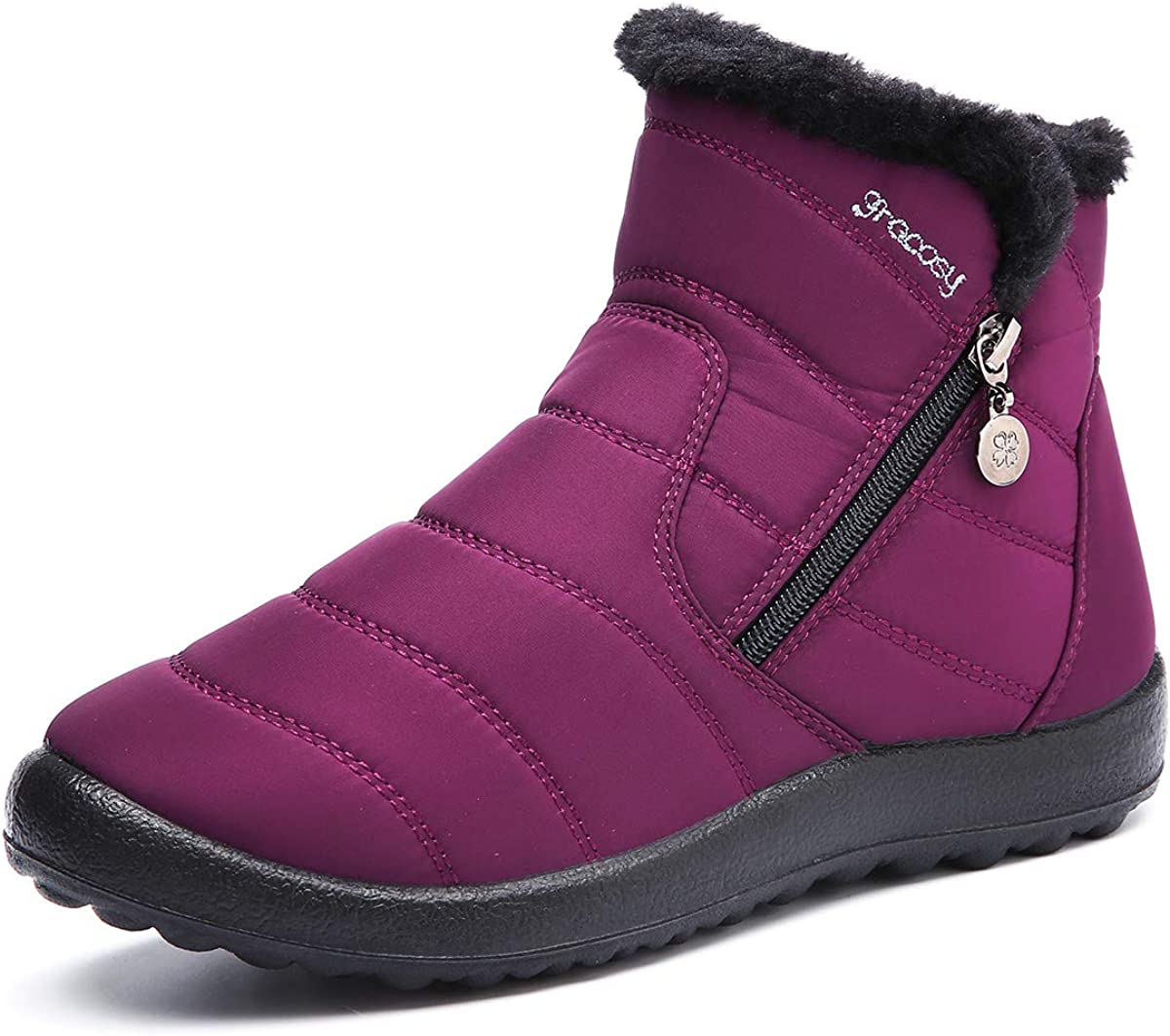 gracosy Complete Free Shipping Warm Snow Japan's largest assortment Boots Women's F Ankle Winter Anti-Slip Bootie