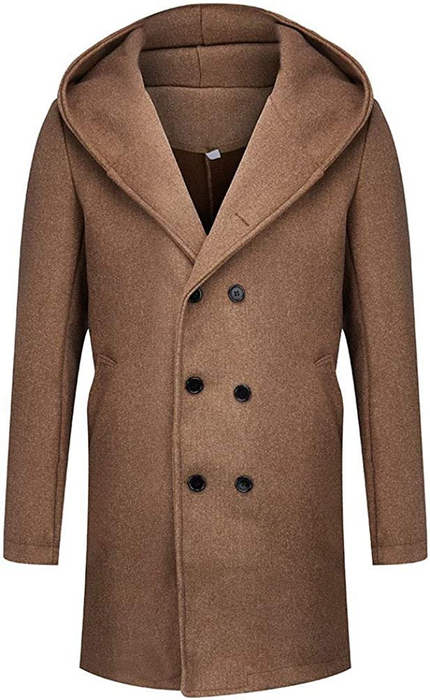 lookwoild Mens Long Double New product! New type Breasted Formal Gentlemen Trench Coat latest