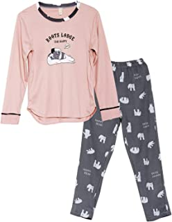 c62cc23ce3 Big Girls Unicorn Cotton Pajama Set Pants   Long Sleeve Teens Sleepwear  Kids Size 12-