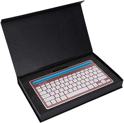 Mini Bluetooth Tastatur Ultrad nne  Leichte Tastatur mit Stabiler Signal  bertragung  Unterst tzung f r Karten Steck Pl tze f r Tablets  Mobiltelefone  Laptops usw