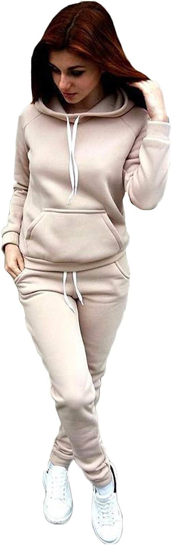 Allegorly Pyjama Damen Zweiteilige Nachtw/äsche Langarm Oberteil Lang Hose Schlafanzug Loungewear mit Taschen Damen Zweiteiliger Schlafanzug Set Nachtw/äsche Sleepwear und Pyjamahose Lounge Sets