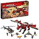 LEGO Ninjago - Llama del destino, set de construcción a partir de 9 años, incluye dragón rojo, un helicóptero y varios ninjas de juguete para recrear aventuras (70653)