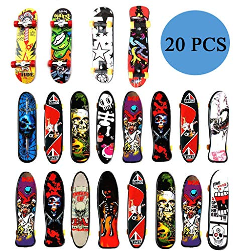 20 Stuk Mini Skateboard, Finger Skateboard Set, Professional Finger Skateboard, Mini Fingerboards Finger Boards Skateboard Toys voor Kinderen, Volwassenen, Beginners