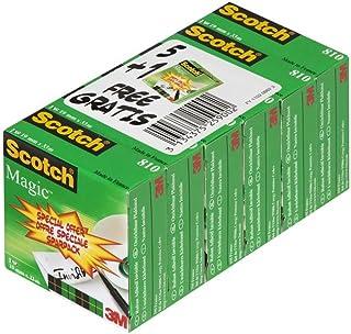 Scotch BP806 Ruban Adhésif + Rouleau de Ruban 810,19 mm x 33 m lot de 5 + 1