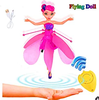 MIGE Magically Flying Fairy Doll - Induction Helicopter Kids Toys Teen Toys Flying Princess Doll Kids Toy -Induction and Remote Control Toys - Birthday Present for Children(Pink)