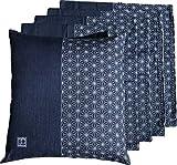 JOYDREAM 座布団カバー 55 59 5枚セット 結 ブルー 55x59