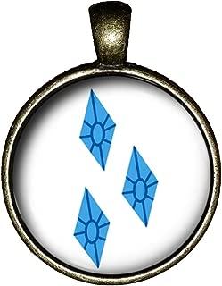 My Little Pony Rarity Necklace Handmade Friendship is Magic Jewelry